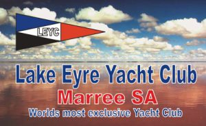 """Lake Eyre Yacht Club"" Fridge Magnet"